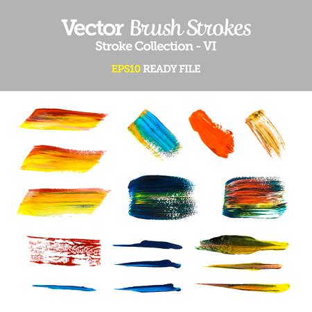 Vector Brush Strokes Collection  Vector