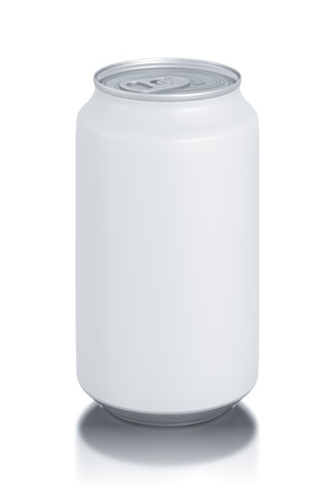 aluminum can isolated on white Stock Photo