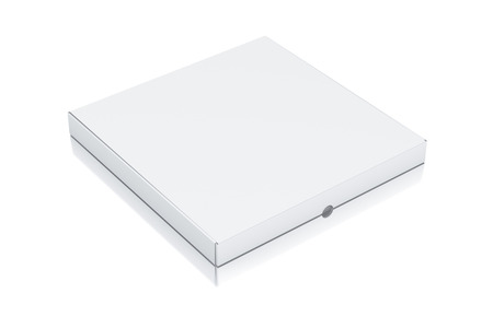 White square box. High resolution 3D rendered illustration.