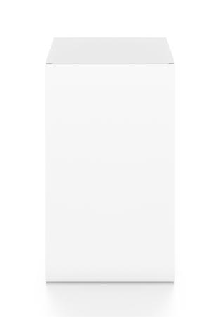 Weiß hohen vertikalen Rechteck leeres Feld von oben Frontwinkel. 3D-Darstellung auf weißem Hintergrund. Standard-Bild - 58514111