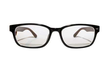 ray ban: isolated white background of glasses Stock Photo