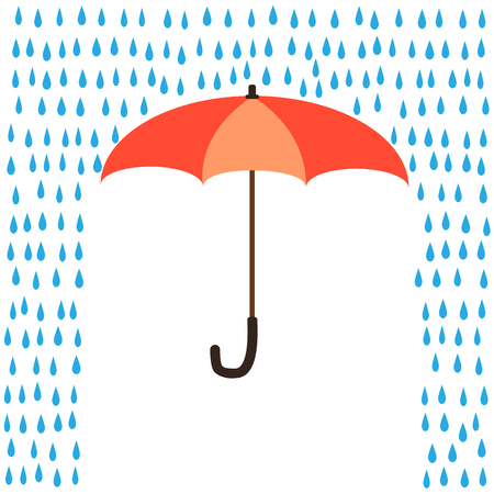 Vector umbrella protection from rain.