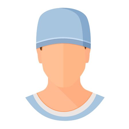 Doctor or nurse in uniform medical staff icon. Flat cartoon style vector illustration avatar isolated on white background.