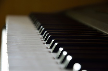 acoustically: Close- up Detail of keys on the keyboard