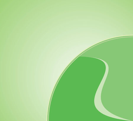 Green background illustration with symbol of earth illustration