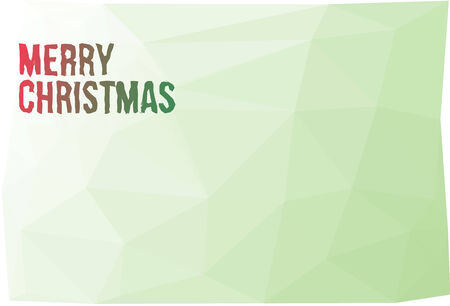 Low Polygonal background with the wishes of Merry Christmas Vector