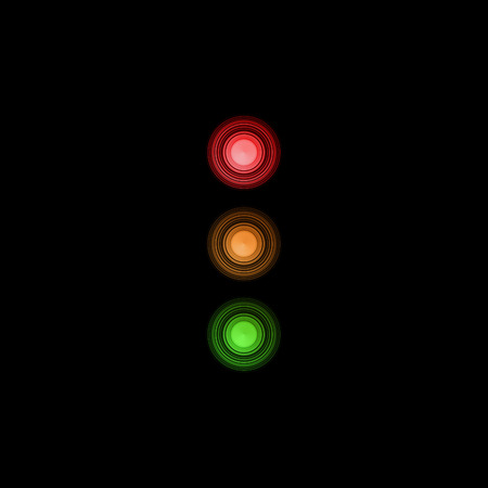 trafficlight: Abstract traffic light signaling with red, orange and green color light