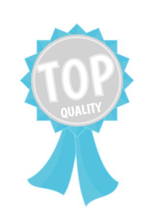 Ruban bleu argenté avec un texte de qualité supérieure Banque d'images - 75369459