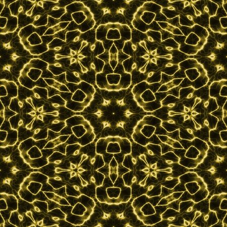 exciting: Abstract yellow glow light electric plasma seamless background