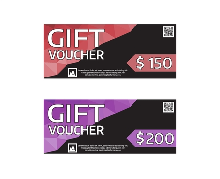 Gift Voucher Modern Design Template. Vector Graphic Coupon With ...