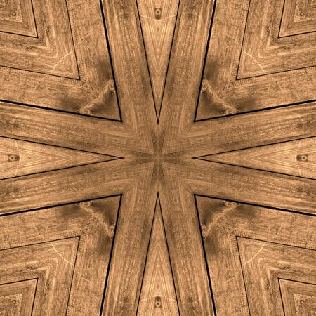 Abstract Wooden rustic retro brown board star cross seamless background texture