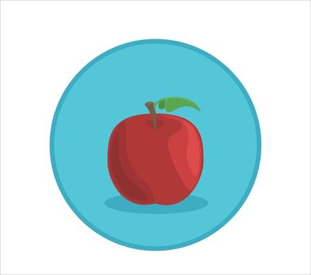 Illustration de pomme. Banque d'images - 76444900
