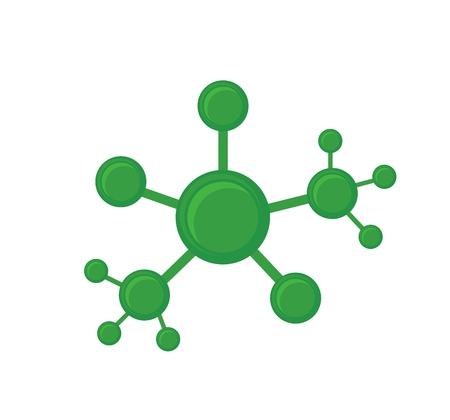Illustration vectorielle de sctructure abstrait de réseau vert. Conection entre les cellules. Vue 3D. Banque d'images - 83248919