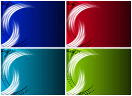 Set of abstract wallpapers in four different colours Stock Photo - 9754048