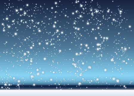 Abstract background with winter scene with snow