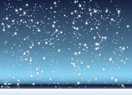 snow falling: Astratto con scena di inverno di neve