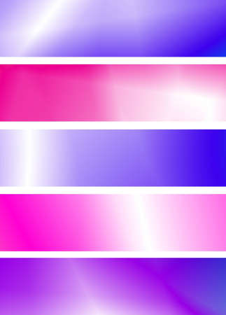 Set of abstract banners in pink and purple colours