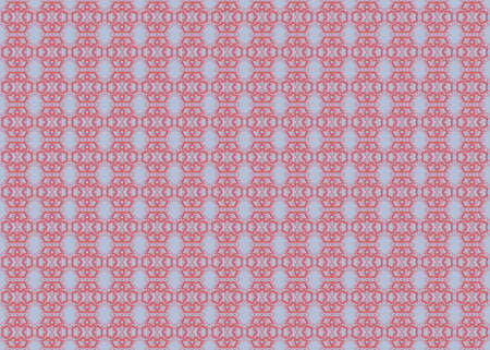 Abstract wallpaper with repeating flower pattern in grey and red colours Stock Photo - 9755099