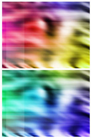 Set of two colourful abstract backgrounds with soft wave pattern Stock Photo - 9754131