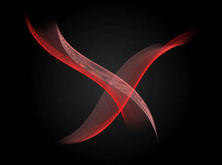 intersecting: Abstract black background with red intersecting lines pattern