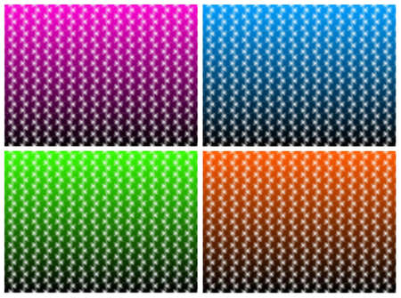 Set of four backgrounds with abstract repeated pattern photo