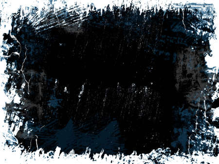 Grunge background with boarder in black white and blue colours