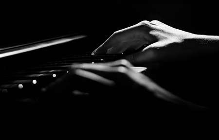 Close up of female hands playing keyboard Stock Photo - 14806916