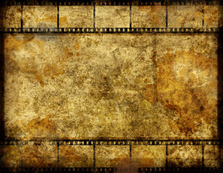 Abstract background with film roll elements in grunge style