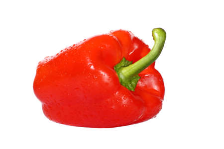 Sweet red pepper isolated on white background Stock Photo - 16393818