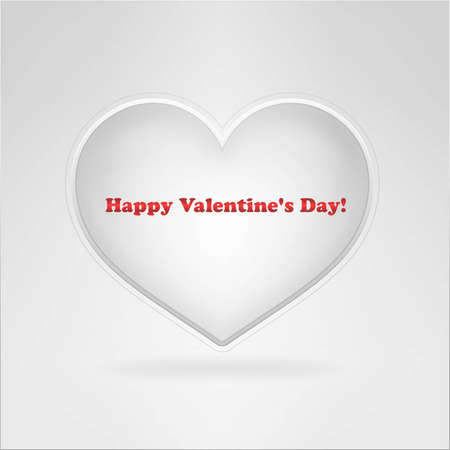 Square card with heart and sign Stock Photo