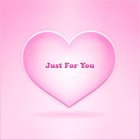Card with pink heart and sign for woman