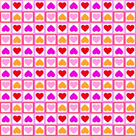 Background with seamless pattern made of colourful hearts Stock Photo