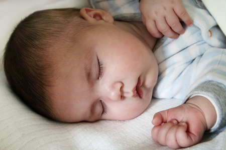 Close up of infant sleeping face