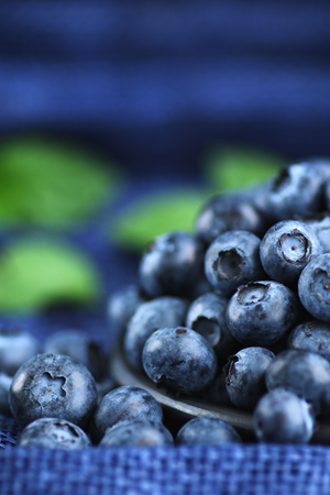 Fresh blueberries close up