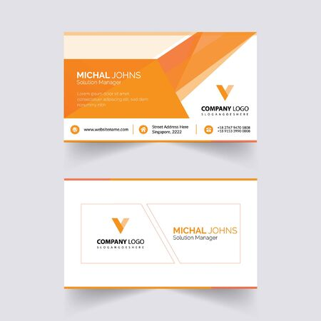 abstruct business card template