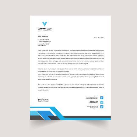 professional letterhead template Ilustracja