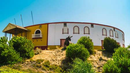 Detail of Matalascanas Bullring in Andalusia, Spain.