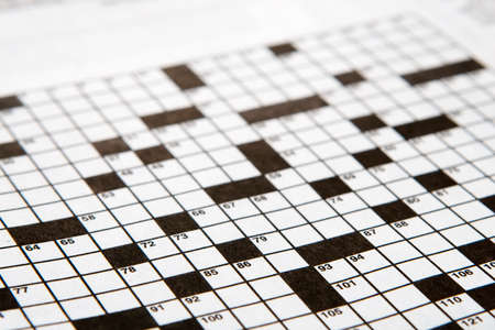 unsolved: Crossword Puzzle in black and white ( unsolved )