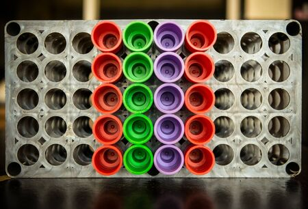 Close up of vacuum tubes. Stock Photo