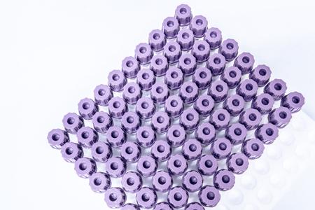 anticoagulant: Close up de tubo de NAF. Foto de archivo