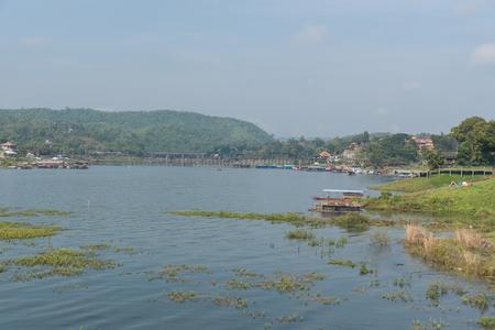 longest: Landscape view of Sagklaburi, Kanchanaburi, Thailand