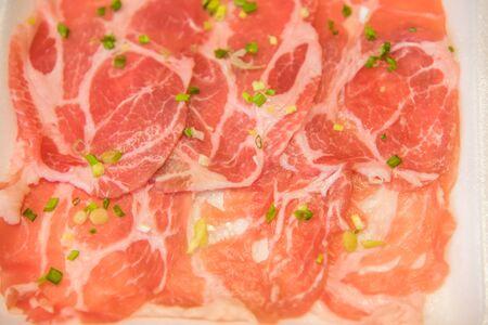 Pork slide for Shabu Shabu style hotpot