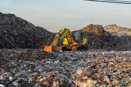 Municipal landfill for household waste in Thailand