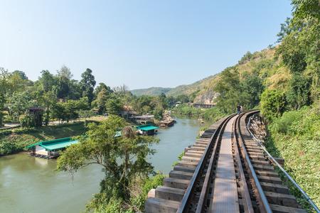 Death Railway Old railway at Hellfire pass Kanchanaburi Thailand