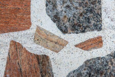 Marble floor plan ceramic counter texture stone tile grey background natural for interior decoration. Reklamní fotografie - 135486590