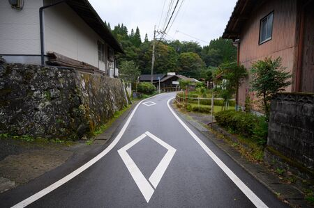 KUMAMOTO, JAPAN - 13 October 2019 : Around Kurokawa Onsen hot spring towns, Ryokan and bridge at Kyushu, Japan.