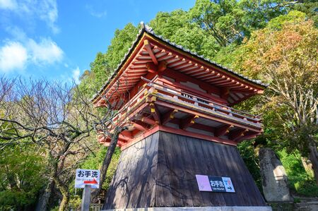 Fukuoka, JAPAN - 15 October 2019 : Dazaifu Tenmangu Shrine, one of the most well-known Shinto shrines in Japan.