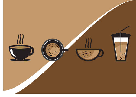 coffee cup vector: Tazza di caff� Vector Set Vettoriali