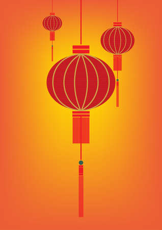 red lantern: Red Lantern for Chinese New Year Illustration