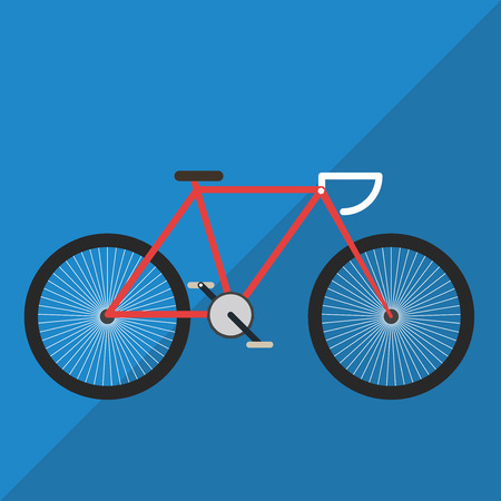 mountain bicycle: Bicycle Flat Color
